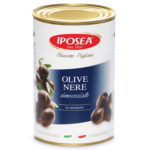 Olive Iposea Nere Denocciolate kg 4