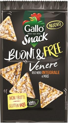Snack Gallo triangolini riso venere/mais gr 80