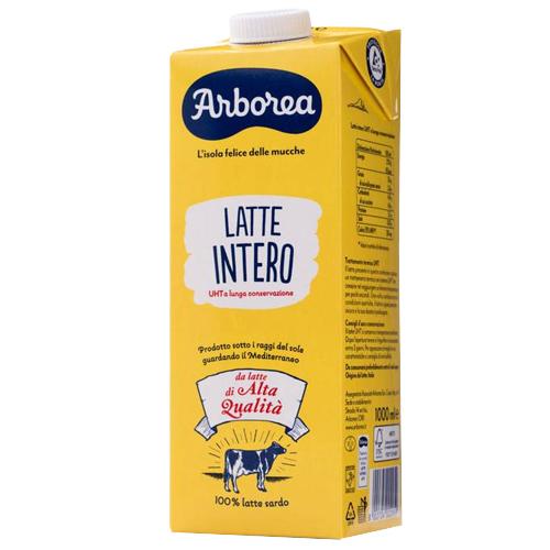 Latte Arborea intero lt 1 brik con tappo