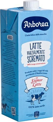 Latte Arborea Parzialmente Scremato lt 1 brik con tappo