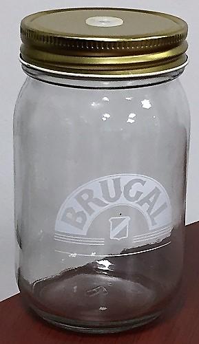 Barattolo per Cocktail Brugal cl 35 con coperchio per cannuccia