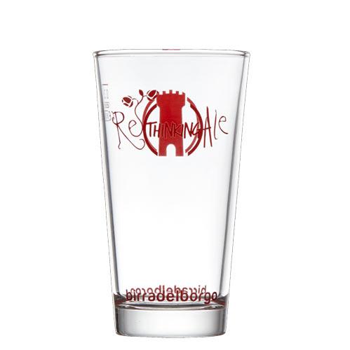 Bicchiere pinta Birra del Borgo Lisa