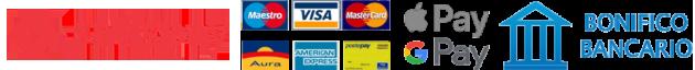 Metodo di pagamento Carta di credito o Bonifico Bancario